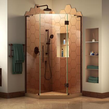 SHEN-2636360-06 Prism Plus 36 X 36 X 72 Frameless Hinged Shower Enclosure In Oil Rubbed