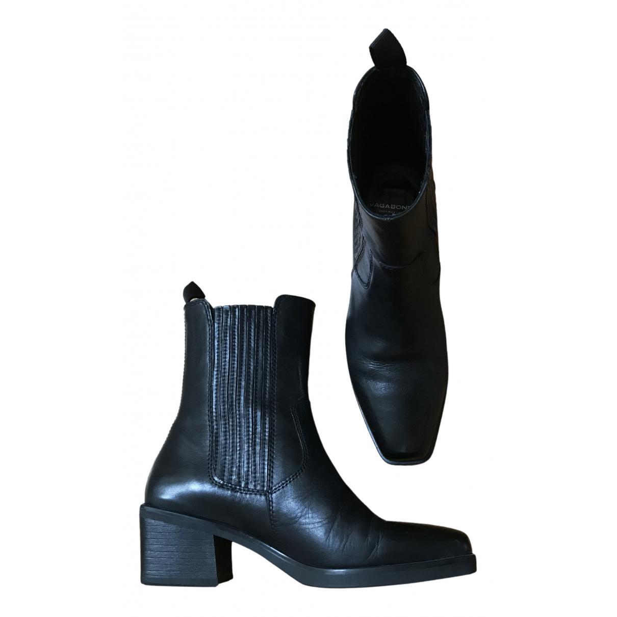 Vagabond \N Stiefeletten in  Schwarz Leder