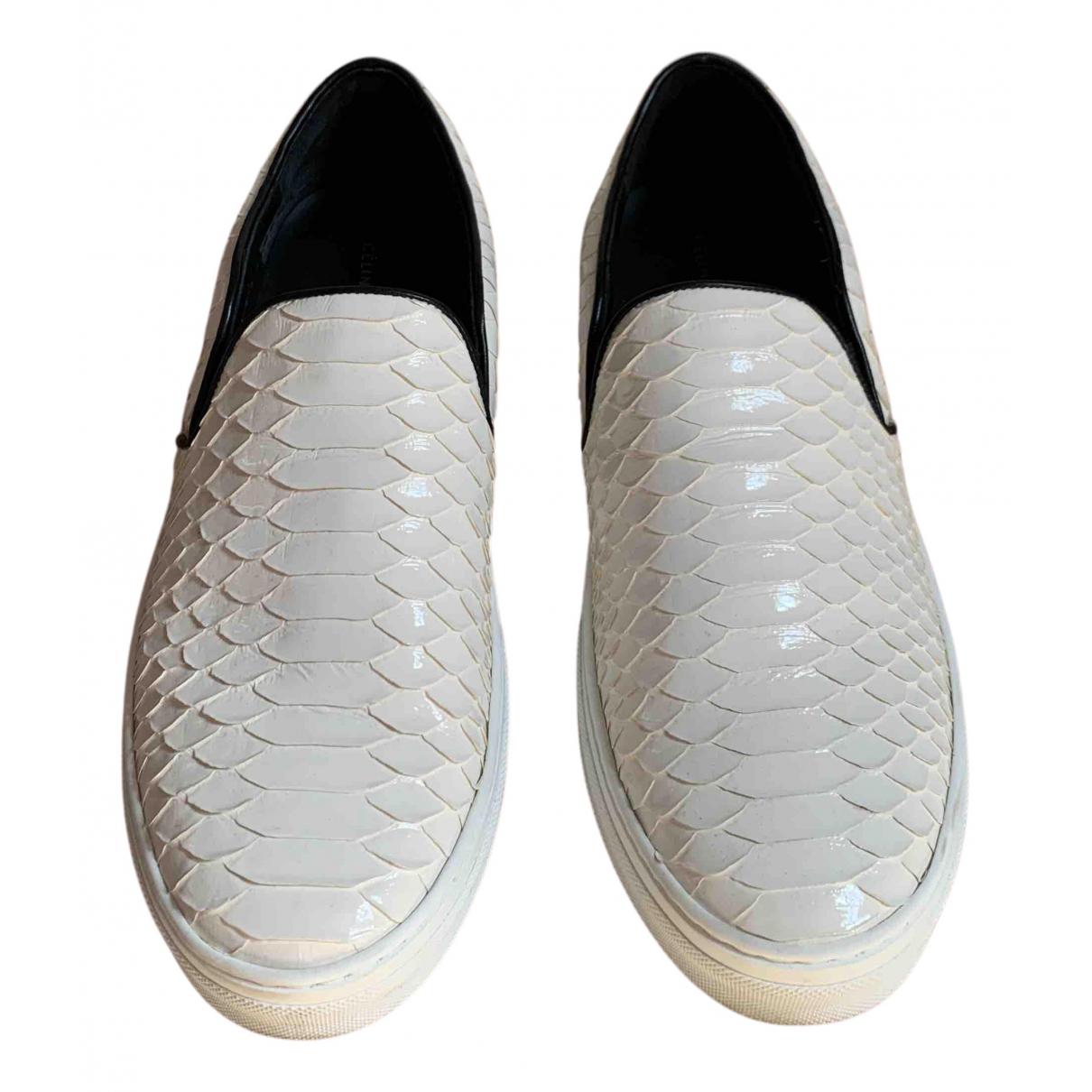 Celine - Baskets   pour femme en python - blanc