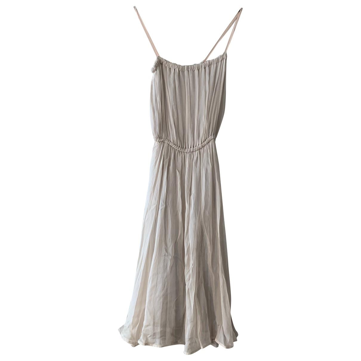 Tara Jarmon N Pink Silk dress for Women 36 FR