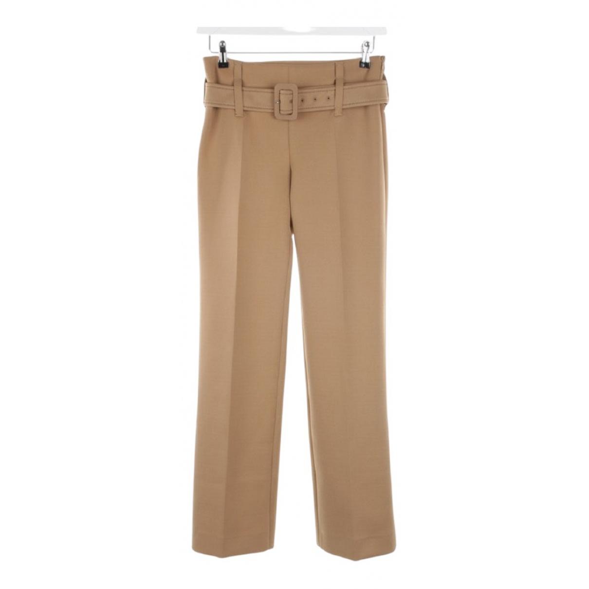 Prada N Camel Trousers for Women 38 IT