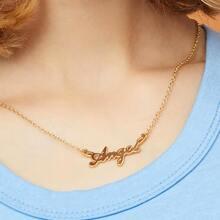 Halskette mit Buchstaben Design Anhaenger 1 Stueck