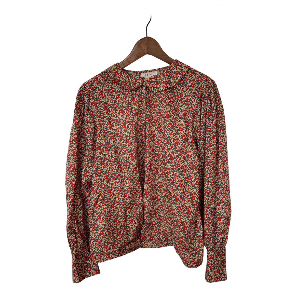 Doen - Top   pour femme en coton - multicolore