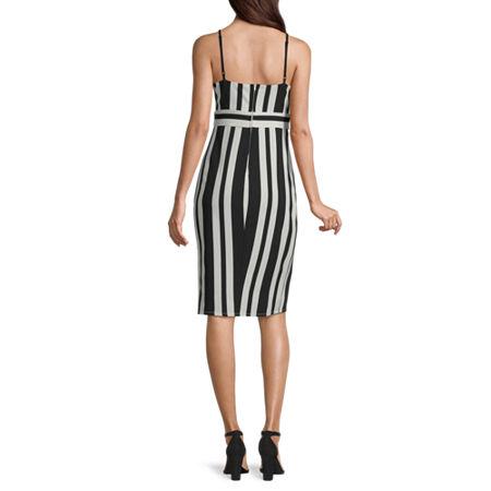 Premier Amour Sleeveless Sheath Dress, 4 , White