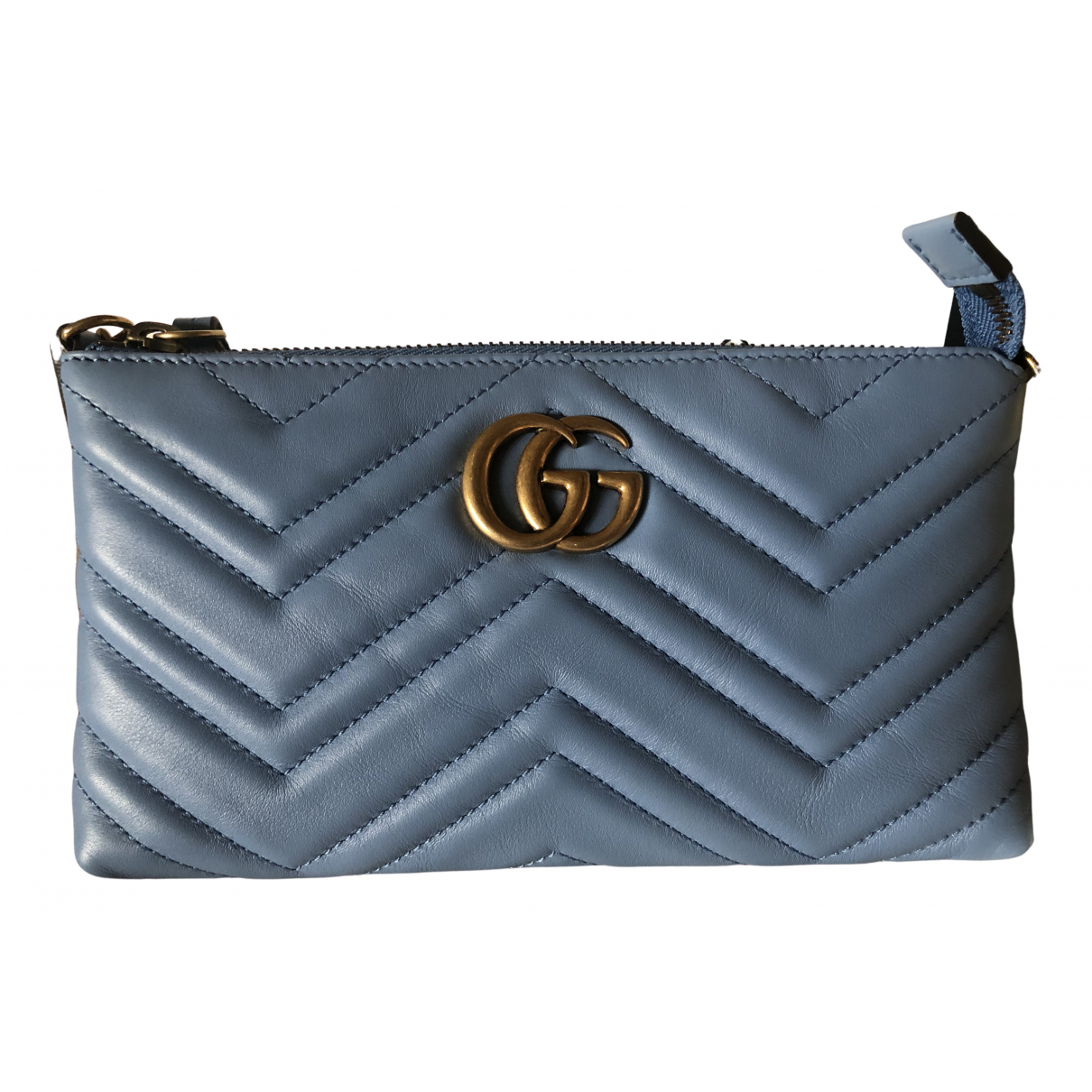 Gucci Marmont Blue Leather Purses, wallet & cases for Women N