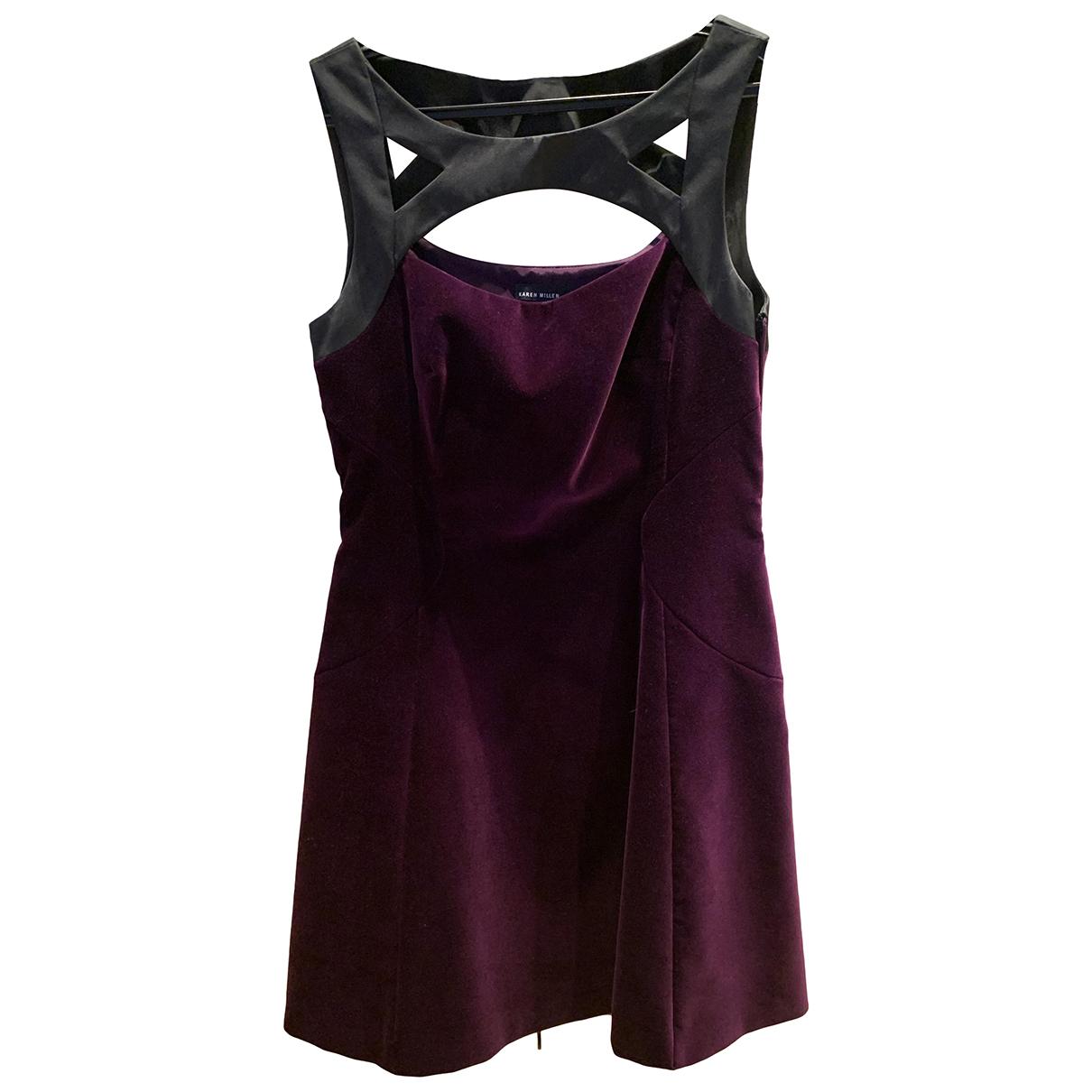 Karen Millen \N Kleid in  Lila Samt
