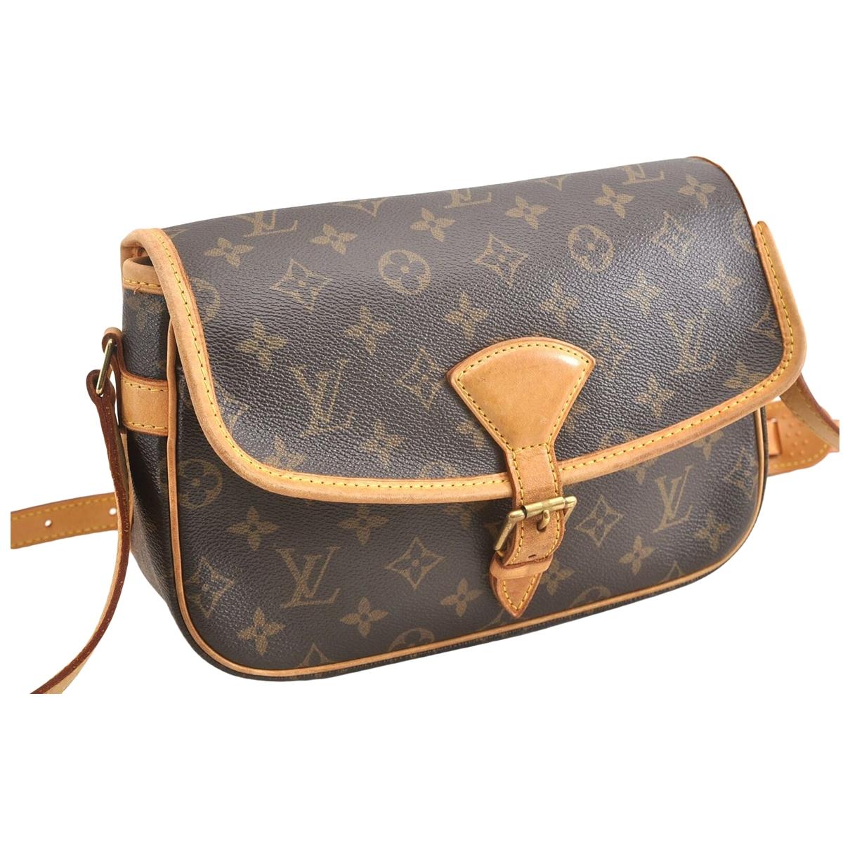 Louis Vuitton Sologne Handtasche in  Braun Leinen