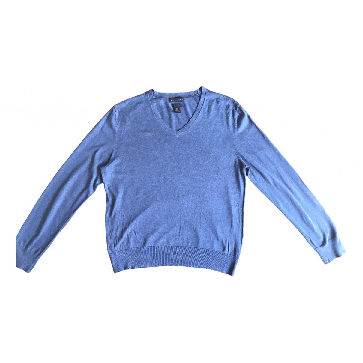 Banana Republic \N Pullover.Westen.Sweatshirts  in  Blau Seide