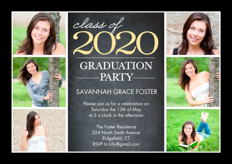 2020 Graduation Invitations Flat Glossy Photo Paper Cards with Envelopes, 5x7, Card & Stationery -Graduation 2020 Party by Tumbalina