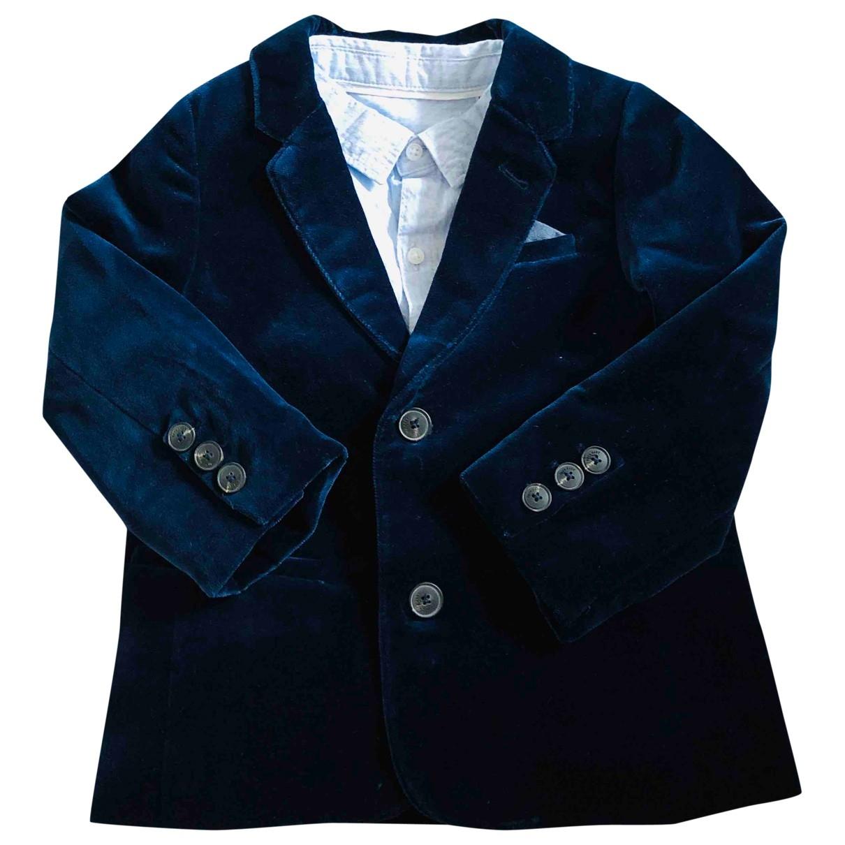 Zara \N Blue Velvet Outfits for Kids 2 years - up to 86cm FR