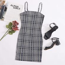 Plaid Bodycon Dress