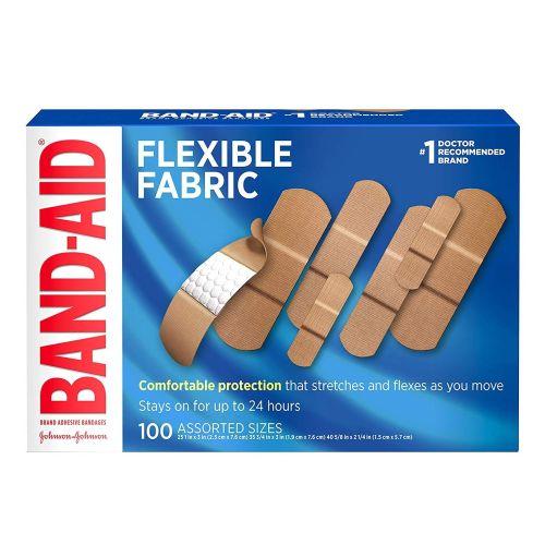 BANDAID Flexible Fabric Adhesive Bandages Assorted 100 each by BandAid