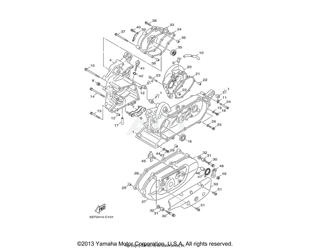 Yamaha OEM 5ST-E5113-00-00 PLATE