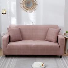Einfarbiger Sofabezug ohne Kissen