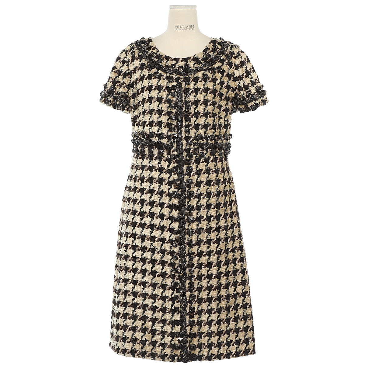 Oscar De La Renta \N Kleid in  Ecru Tweed