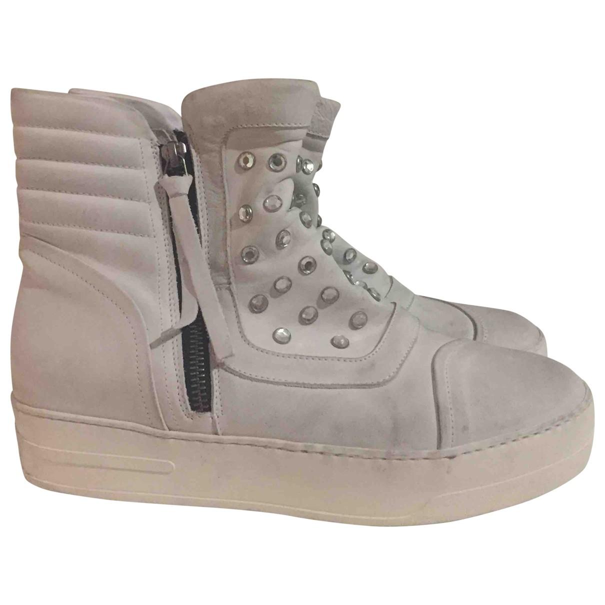 Bruno Bordese - Boots   pour femme en cuir - blanc