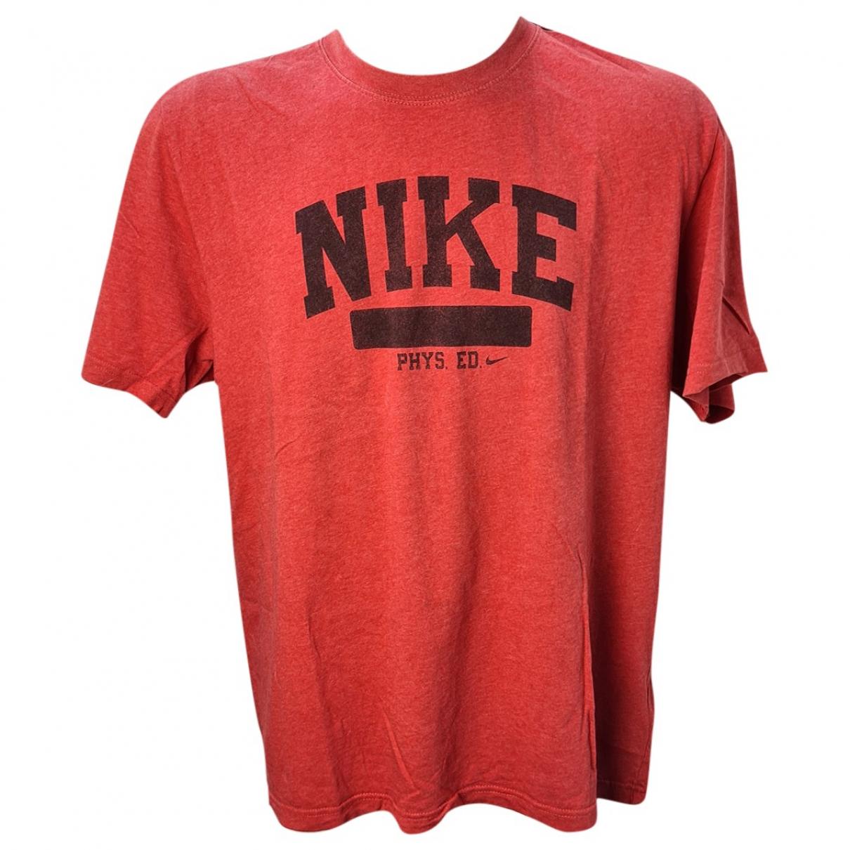 Nike - Tee shirts   pour homme en coton - rouge