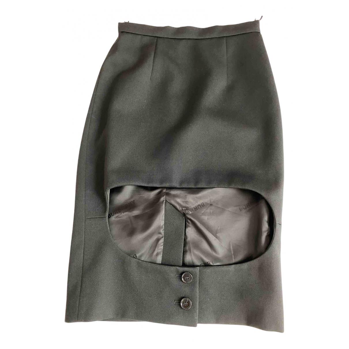 Burberry - Jupe   pour femme en laine - noir