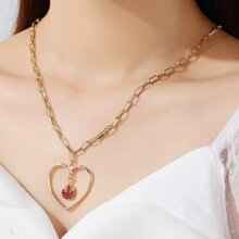 Heart Charm Chain Necklace