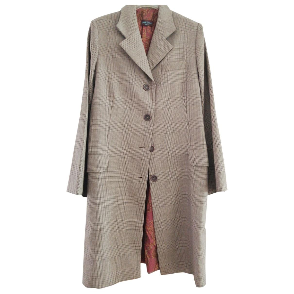 Stella Forest - Manteau   pour femme en laine - marron