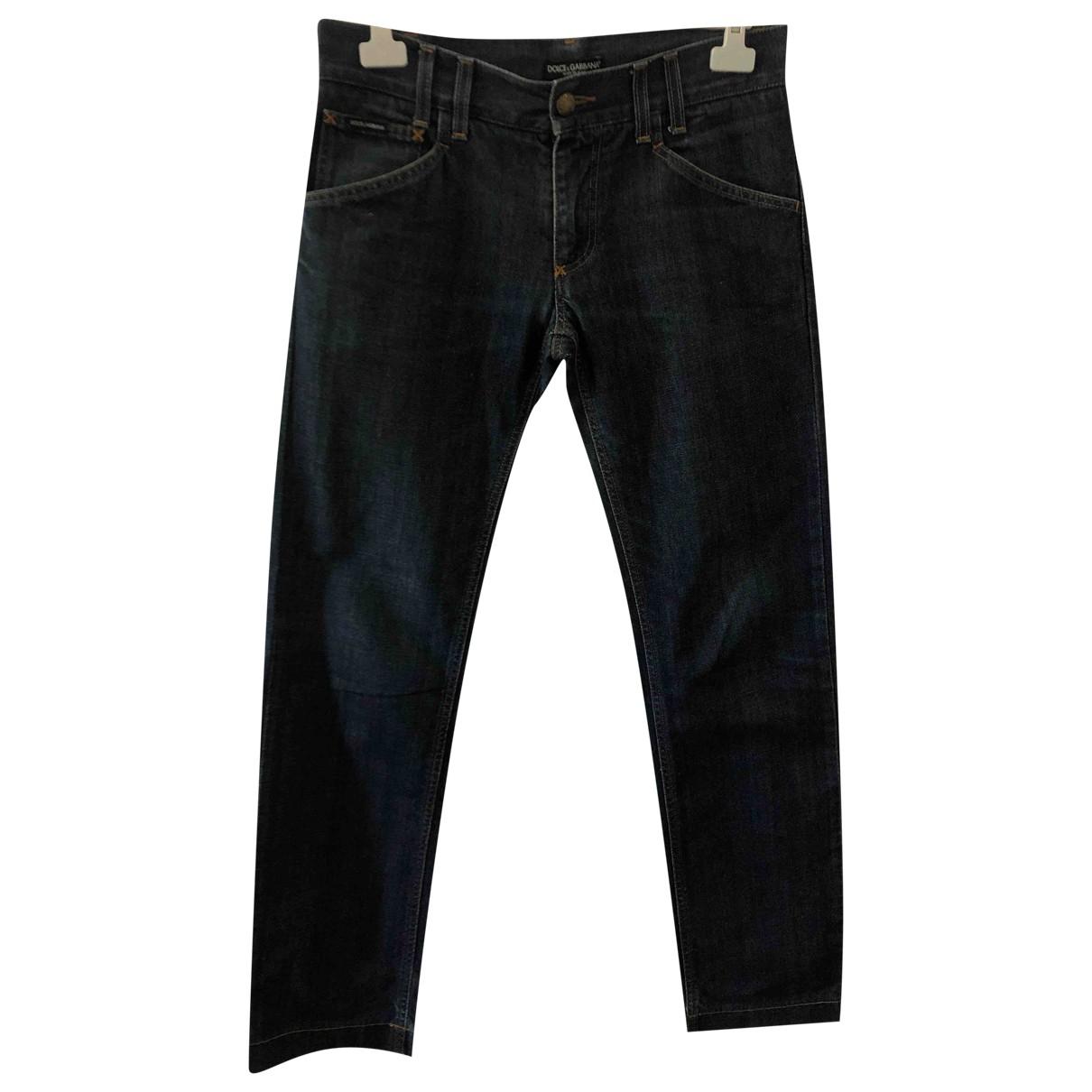 Dolce & Gabbana - Jean   pour homme en coton - marine