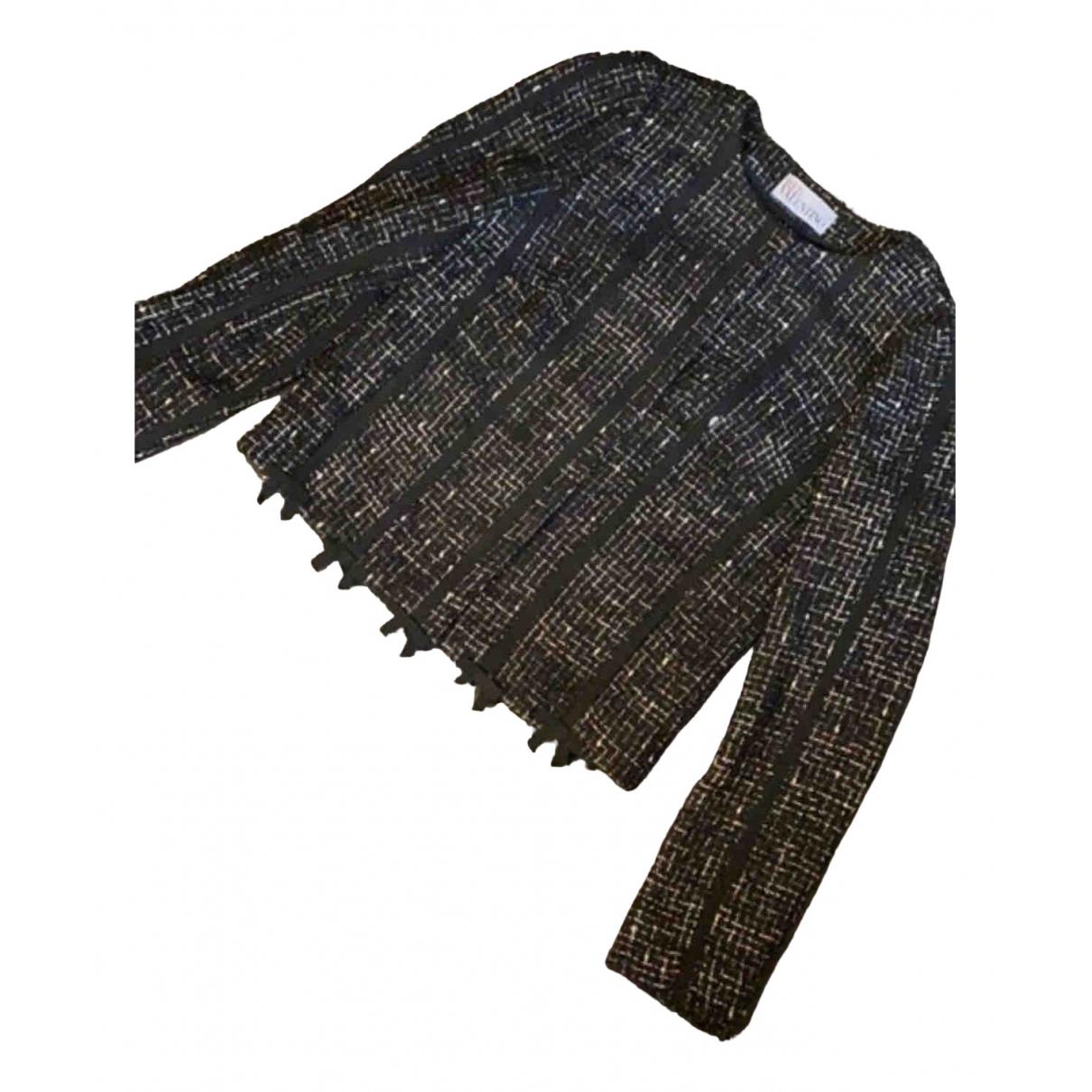 Red Valentino Garavani N Black Tweed jacket for Women 36 FR