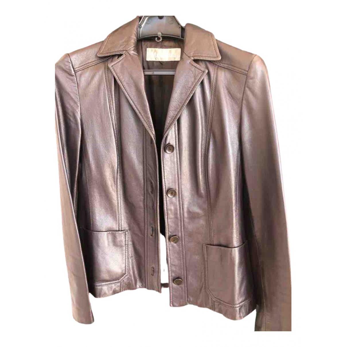 Max Mara \N Metallic Leather jacket for Women 6 UK