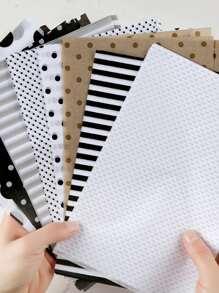 80sheets Polka Dot Pattern Material Paper
