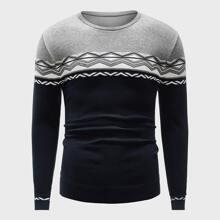 Guys Geo Pattern Sweater