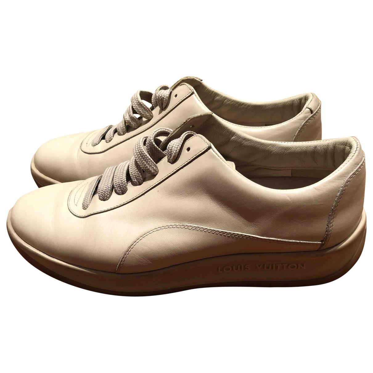 Louis Vuitton - Baskets   pour femme en cuir - beige