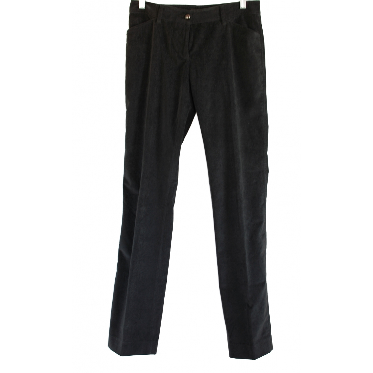 Dolce & Gabbana \N Anthracite Cotton Trousers for Women 40 IT