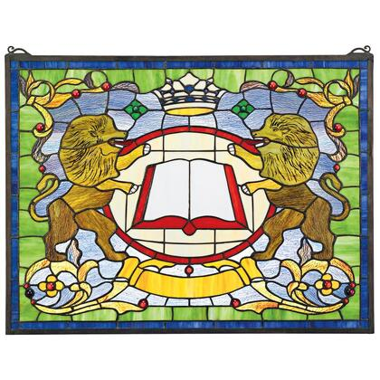 TF81 Lion Coat Of Arms Stained Glass