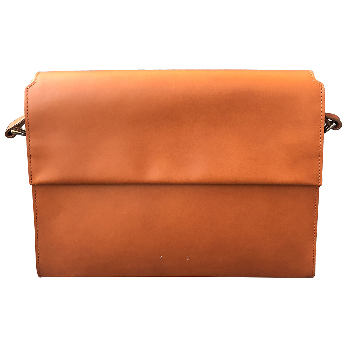 Pb 0110 \N Camel Leather handbag for Women \N