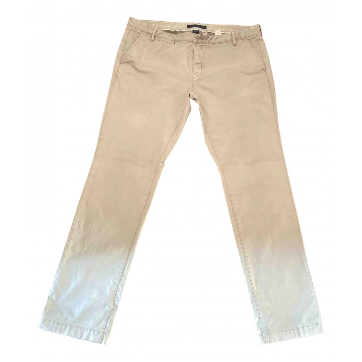 Calvin Klein - Pantalon   pour homme en coton - beige
