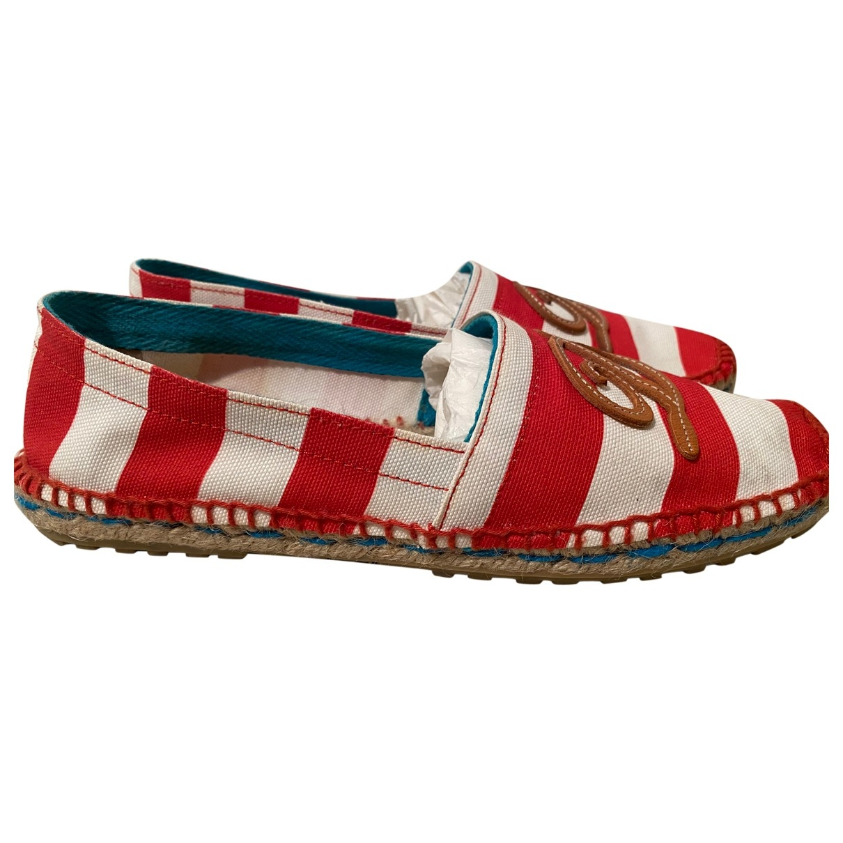 Dsquared2 \N Espadrilles in  Rot Leinen