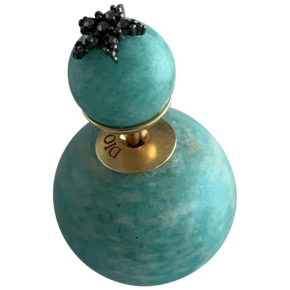 Dior - Boucles doreilles Tribal pour femme en perles - turquoise