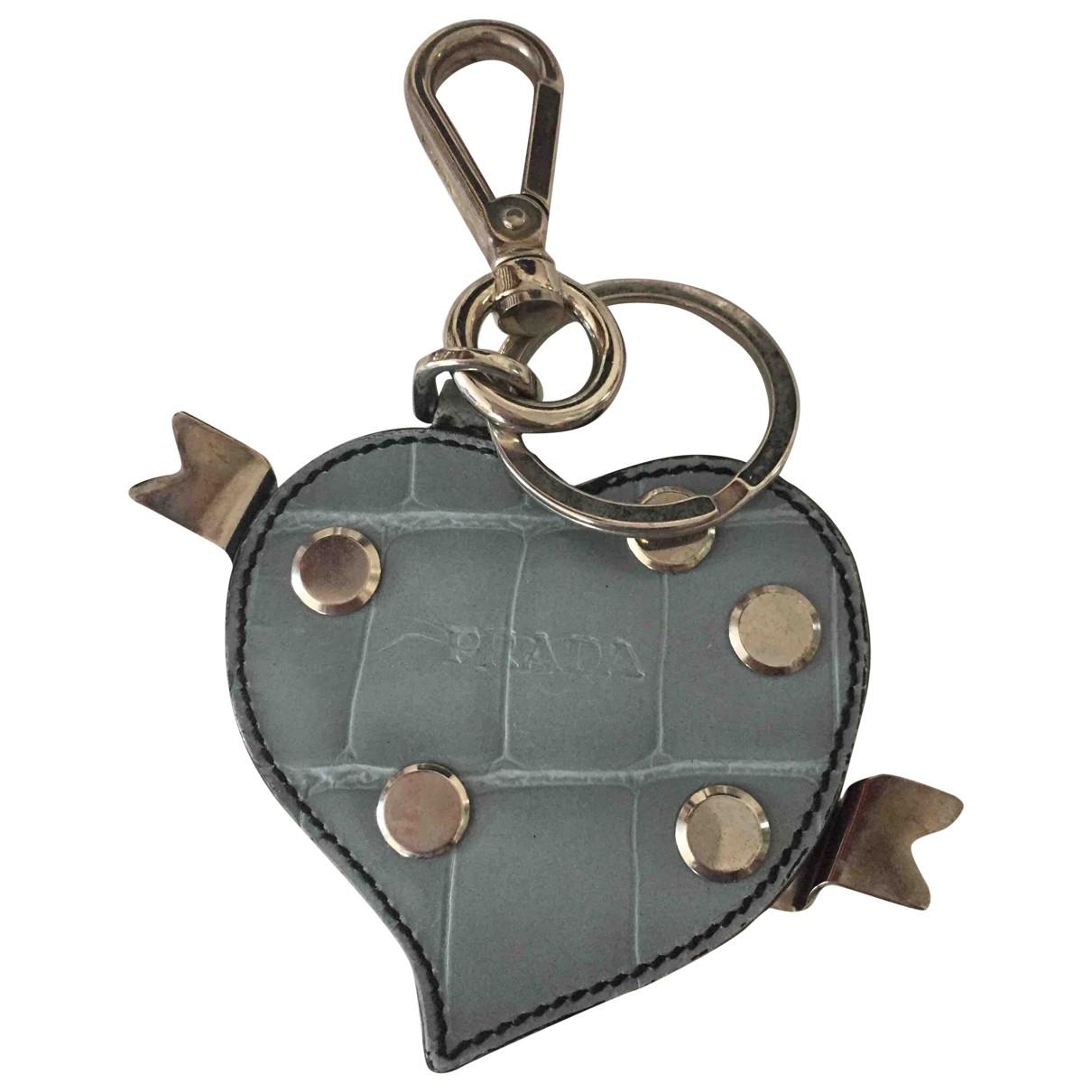 Prada \N Blue Leather Bag charms for Women \N