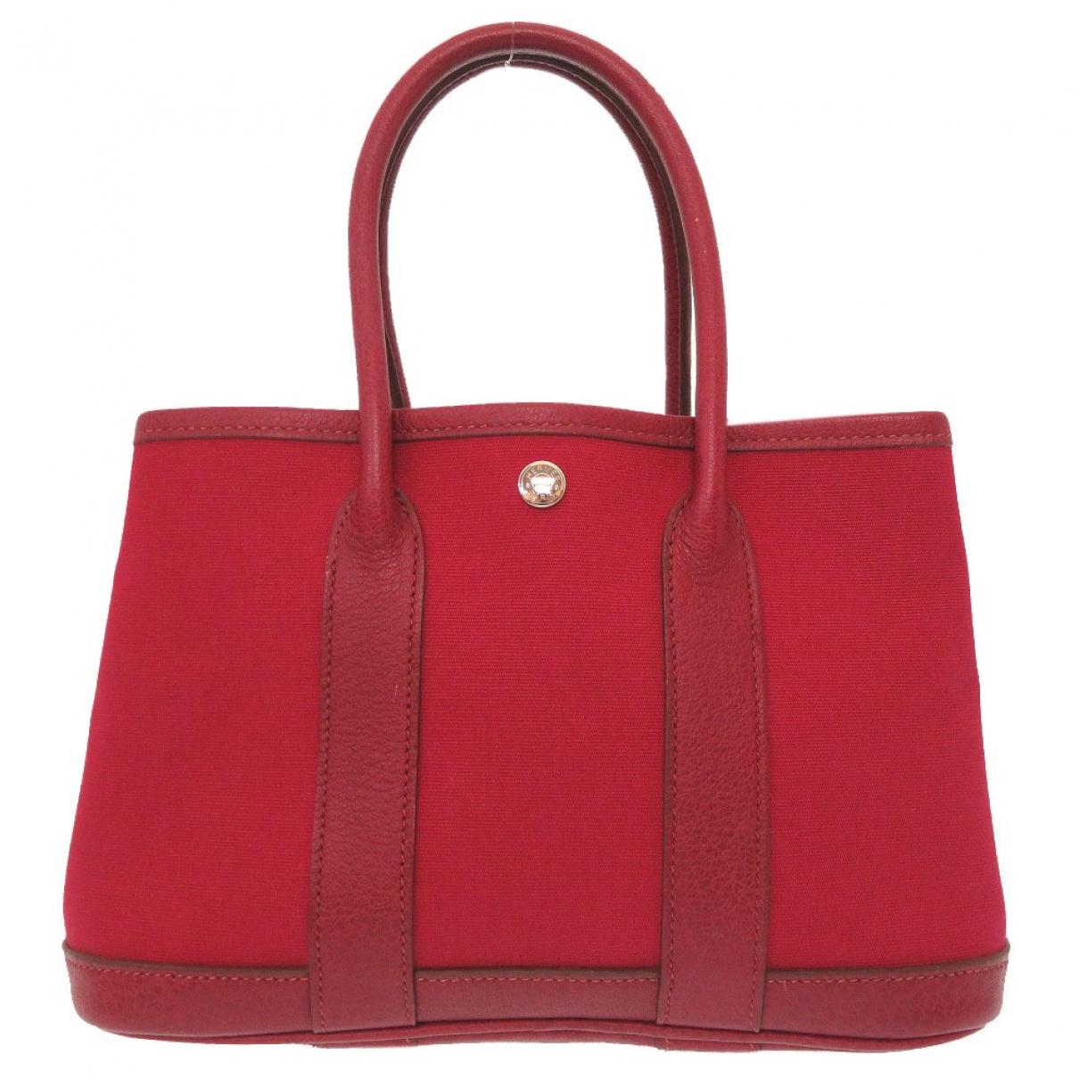 Hermès Garden Party Red Cloth handbag for Women \N