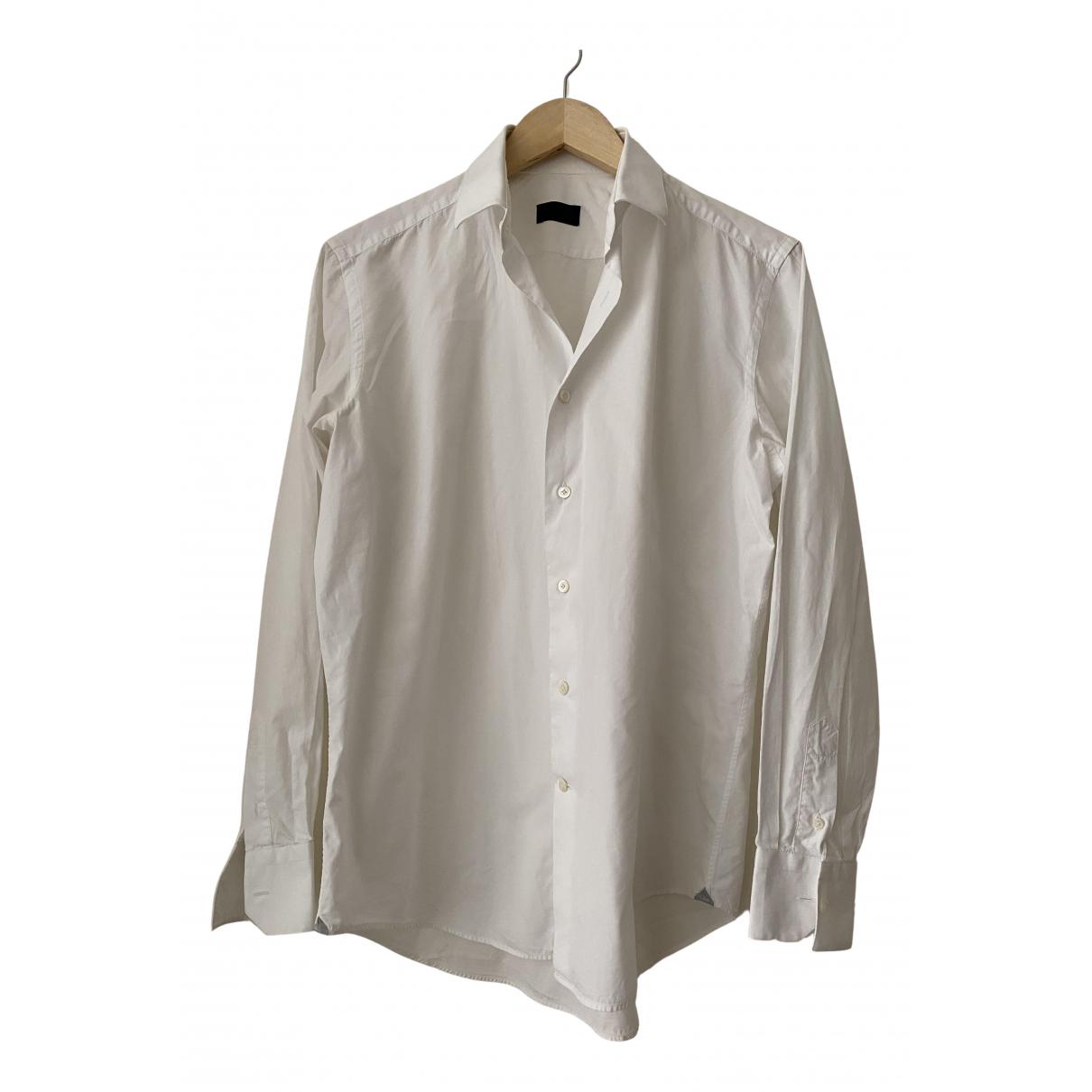 Lanvin N White Cotton Shirts for Men 40 EU (tour de cou / collar)