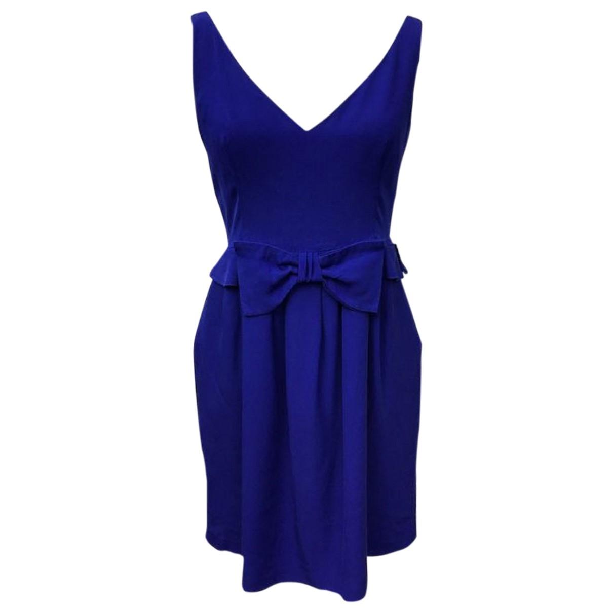 Dolce & Gabbana \N Blue Silk dress for Women 38 FR