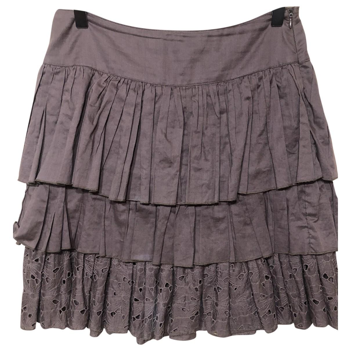 Blumarine N Brown Cotton skirt for Women 40 IT