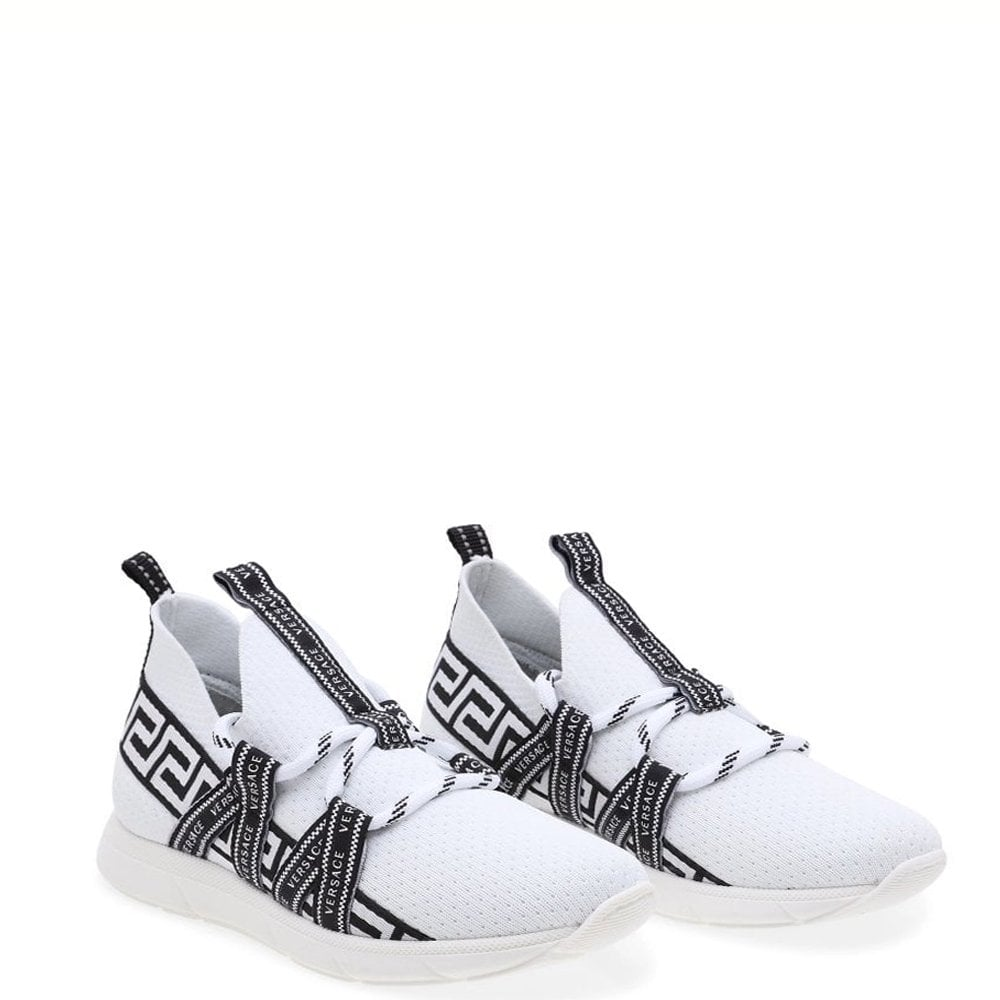 Versace Nastro Versace Trainers Colour: WHITE, Size: UK 5