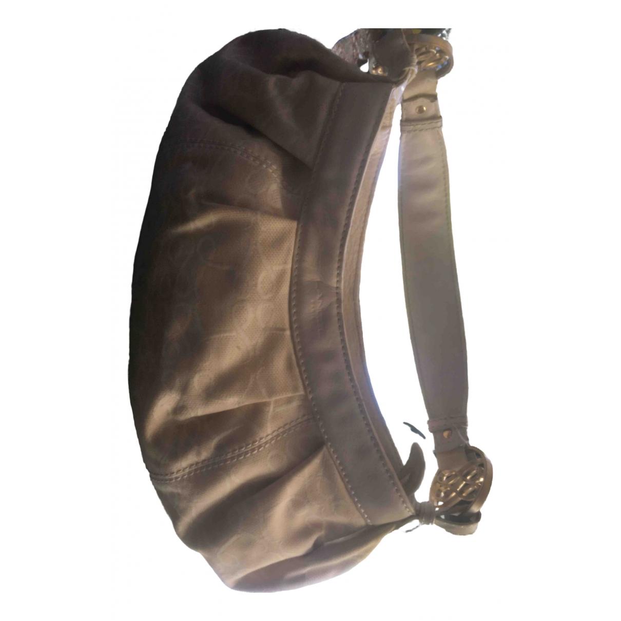 Lancel Gousset Handtasche in  Beige Synthetik