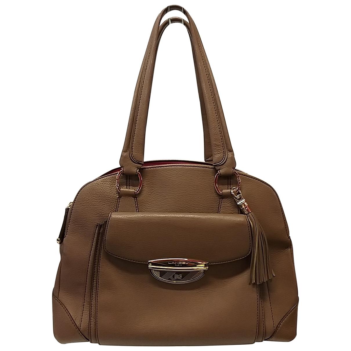Lancel Adjani Handtasche in  Beige Leder