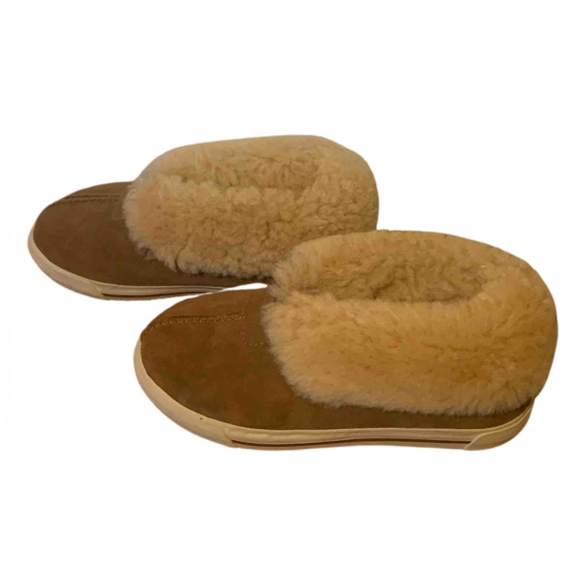 Ugg - Boots   pour femme en mouton - marron