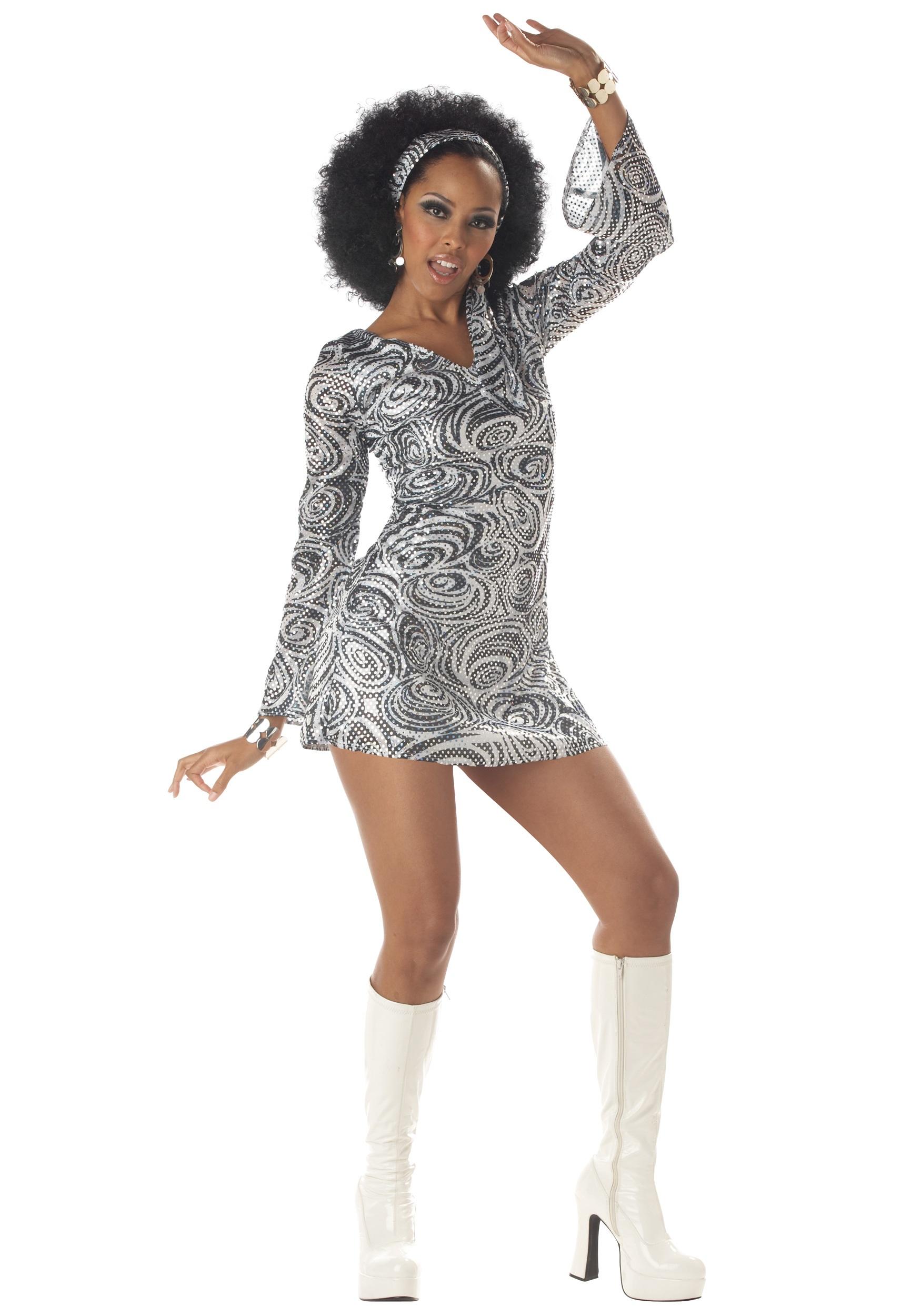 Sexy Disco Diva Dress Costume