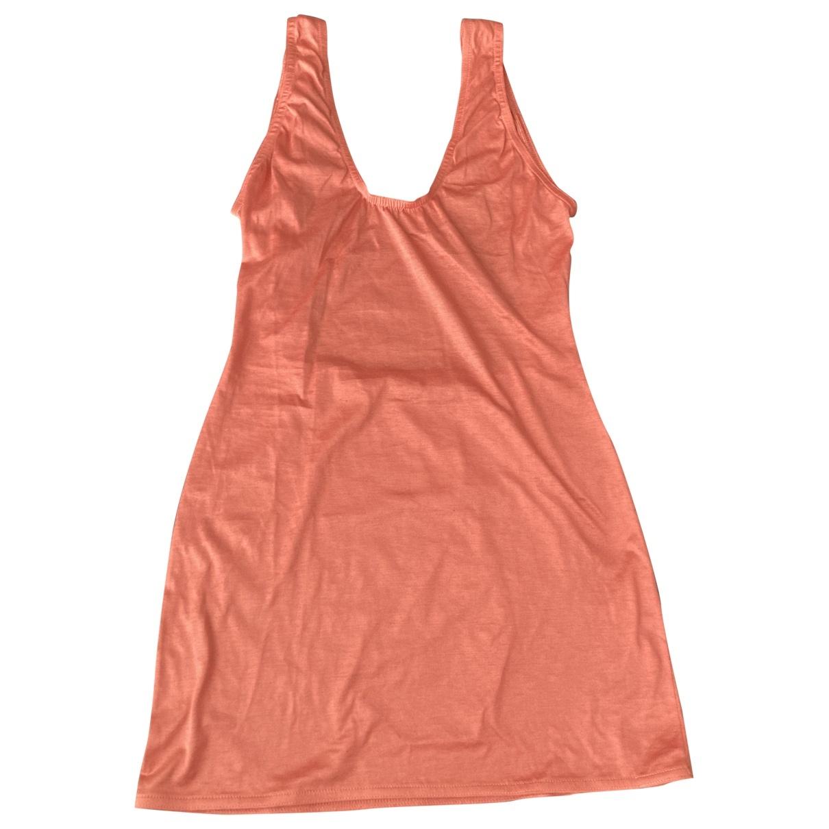 Alaia \N Kleid in  Rosa Baumwolle