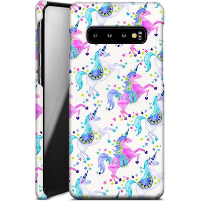 Samsung Galaxy S10 Smartphone Huelle - Unicorns Pastel von Cat Coquillette