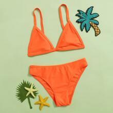 Set de bikini de niñas top triangulo con bragas