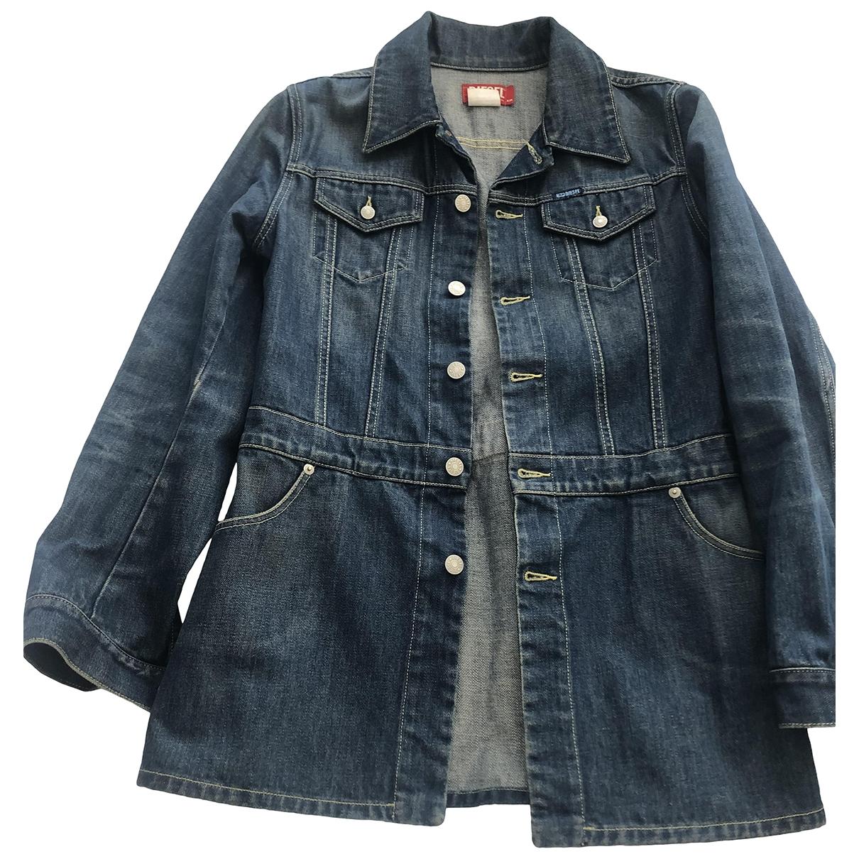 Diesel \N Blue Denim - Jeans jacket for Women 38 FR